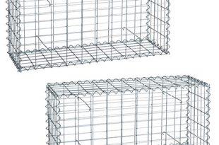 ESTEXO Gabionen im 2er Set 100x50x30 cm, inklusive Spiralen und Distanzhalter