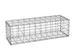 Gabionen verschiedene Größen wählbar + kostenloser Versand // Steingabionen Steinkorb Gabionen Wand Rundgabione, Gabionenwand, Drahtkorb Mauer Säule Säulen 5x10 (Gabione 100x30x30cm)