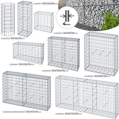 Jago Gabione für Stützmauern - Größenwahl und Setwahl, Eisendraht Ø 4mm - Drahtkörbe, Wand, Steinzäune, Steingabionen, Gabionenzaun, Zaun