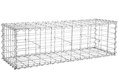 SONGMICS Gabione 100 x 30 x 30 cm für Stützmauern Gartenzaun Gabionenwand Mauer Säule verzinkt GGB133