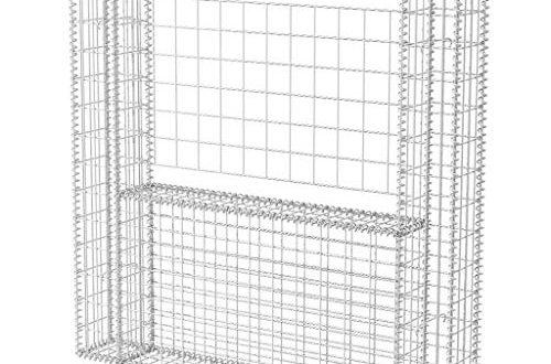 vidaXL Gabione U Form Stahl 160x20x150cm Steinkorb Drahtkorb Mauersteinkorb 500x330 - vidaXL Gabione U-Form Stahl 160x20x150cm Steinkorb Drahtkorb Mauersteinkorb