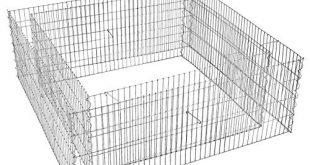 SONGMICS Gabione quadratische Ziergabione Steinkorb aus Metall 25 x 10 310x165 - SONGMICS Gabione, quadratische Ziergabione, Steinkorb aus Metall, 2,5 x 10 cm engmaschiges Gitter, Drahtzaun aus verzinktem Stahl, rostfrei, 100 x 100 x 40 cm, 10 cm Abstand, Gartendeko GGB481